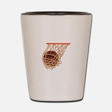 BASKETBALL IN NET Shot Glass