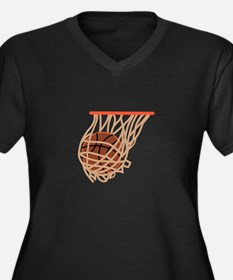 BASKETBALL IN NET Plus Size T-Shirt