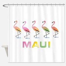 March of the Tropical Flamingos MAU Shower Curtain
