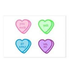 Grumpy Candy Hearts Postcards (Package of 8)