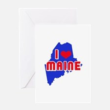 I LOVE MAINE Greeting Cards