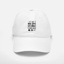 Coffee Animals Naps Baseball Baseball Cap