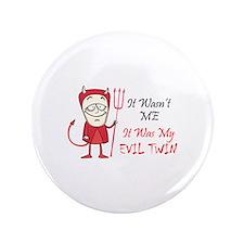 """LITTLE DEVIL TWIN 3.5"""" Button"""