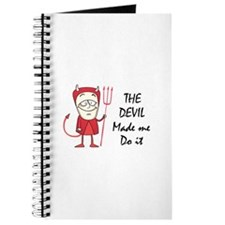 DEVIL MADE ME DO IT Journal