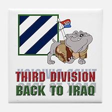 3ID Back To Iraq 1 - Tile Coaster