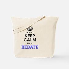 Cute Keep calm debate Tote Bag