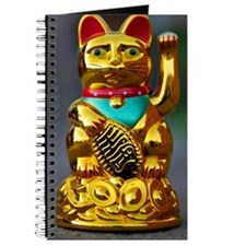asian waving cat maneki neko Journal