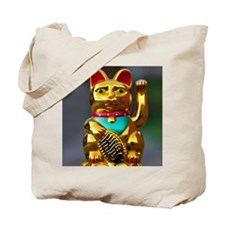 asian waving cat maneki neko Tote Bag