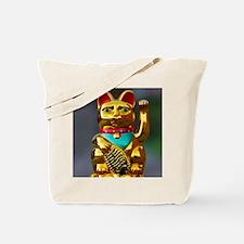 asian waving cat maneki neko Tote Bag