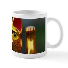 asian waving cat maneki neko Mugs