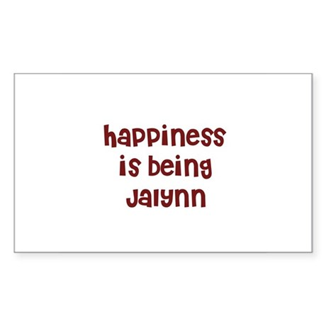 happiness is being Jalynn Rectangle Sticker