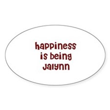 happiness is being Jalynn Oval Decal