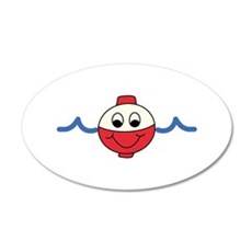 HAPPY FACE BOBBER Wall Decal