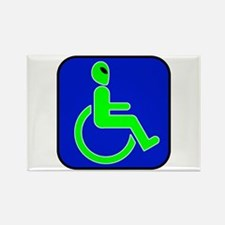 Handicapped Alien Rectangle Magnet