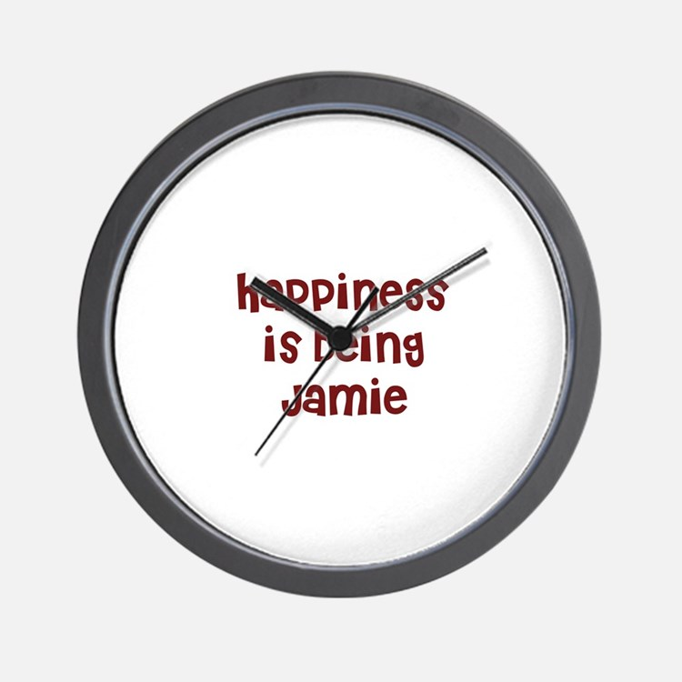 happiness is being Jamie Wall Clock