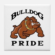 BULLDOG PRIDE Tile Coaster