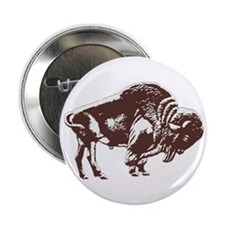Love Buffalo Button