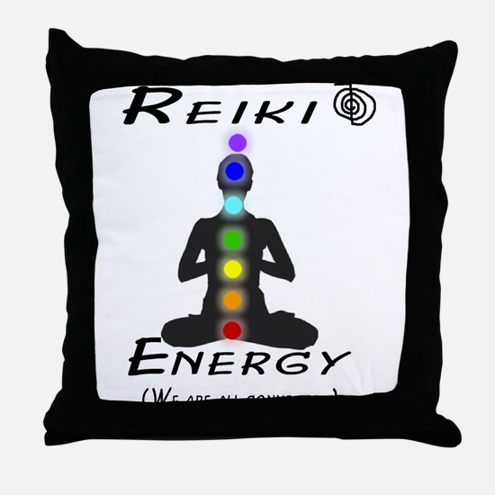 Reiki Energy all connected Throw Pillow