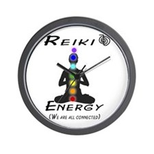 Reiki Energy All Connected Wall Clock