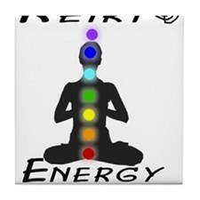 Reiki Energy all connected Tile Coaster
