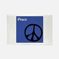 Blue iPeace Symbol Rectangle Magnet