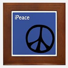Blue iPeace Symbol Framed Tile