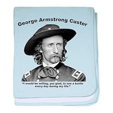 Custer: Battle baby blanket