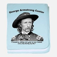 Custer: Battle baby blanket