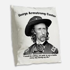 Custer: Battle Burlap Throw Pillow