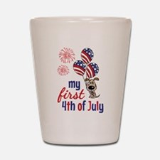 My First 4th of July Shot Glass