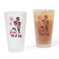 My First 4th of July Drinking Glass