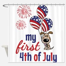 My First 4th of July Shower Curtain