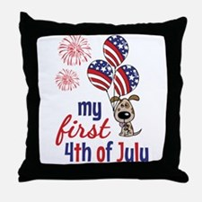 My First 4th of July Throw Pillow