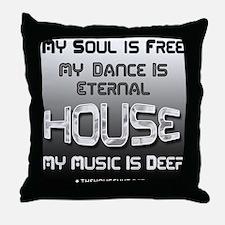Unique House music Throw Pillow