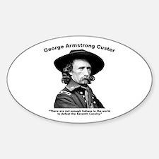 Custer: Defeat Sticker (Oval)