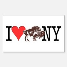 Love Buffalo Rectangle Decal