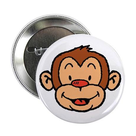 Brown Monkey Button