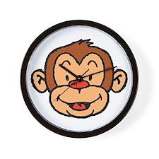 Brown Monkey Wall Clock