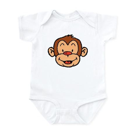 Brown Monkey Infant Creeper