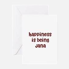 happiness is being Jana Greeting Cards (Package of