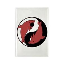Yin Yang Dolphins 3 Rectangle Magnet