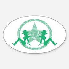 Mud Flap Cowgirls 3 Oval Decal