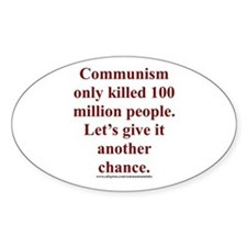 Communism Oval Decal
