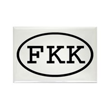 FKK Oval Rectangle Magnet