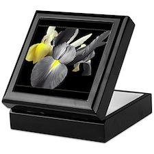 Grey & Yellow Iris Flowers #9b Decor Box