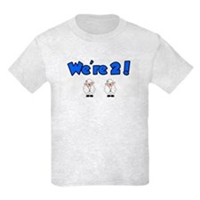 Cute Kids birthday 2 year old twins T-Shirt