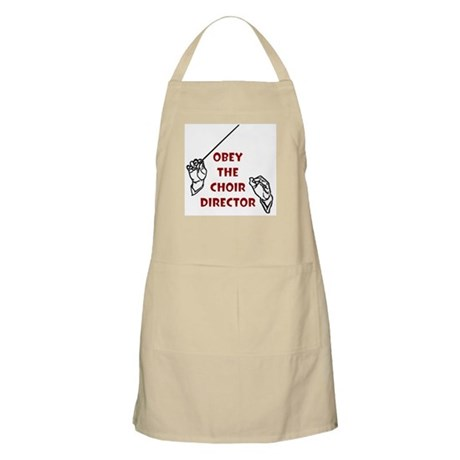 Obey the Choir Director BBQ Apron