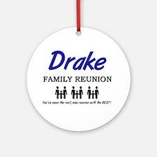 Drake Family Reunion Ornament (Round)