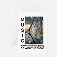 Violin Banjo Mando Fiddle Bass Cards (Pack of 6)