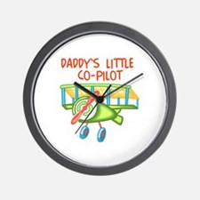 DADDYS CO-PILOT Wall Clock